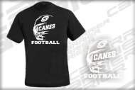 T Shirt Canes blk rough Canes Shirt  Saarland Hurricanes CSC Football