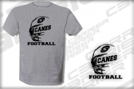 T Shirt Canes grau rough Canes Shirt  Saarland Hurricanes CSC Football