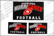 Aufkleberset Cap Saarland Hurricanes Canes Football Aufkleber Sticker Patches
